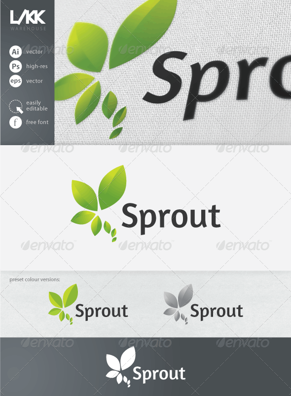 Sprout logo - Nature Logo Templates