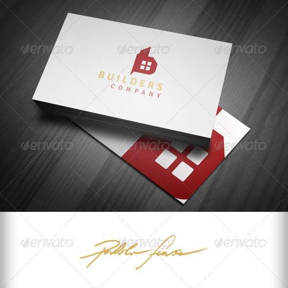 Letter B Logo - Real Estate Logo - Builders Logo