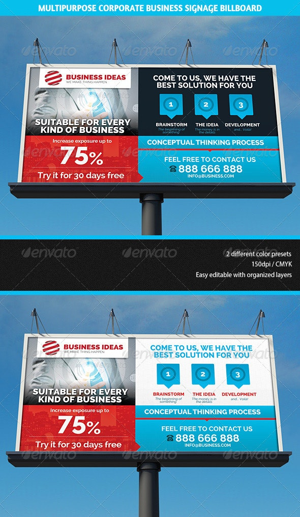 Multipurpose Corporate Business Signage Billboard - Signage Print Templates