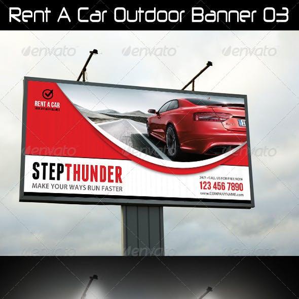 Rent A Car Outdoor Banner 03