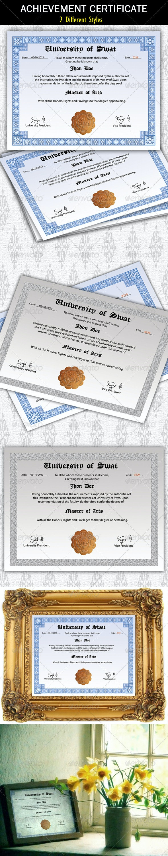 Degree Certificate - Certificates Stationery