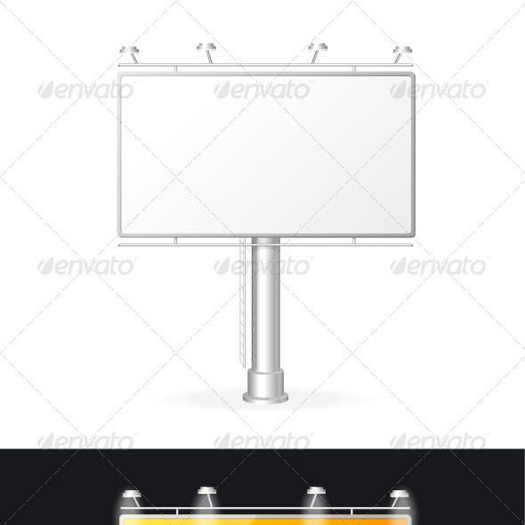 Vector White Billboards Screen Templates Set