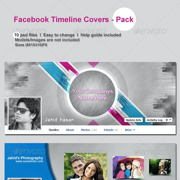 FaceBook Timeline Covers - Pack