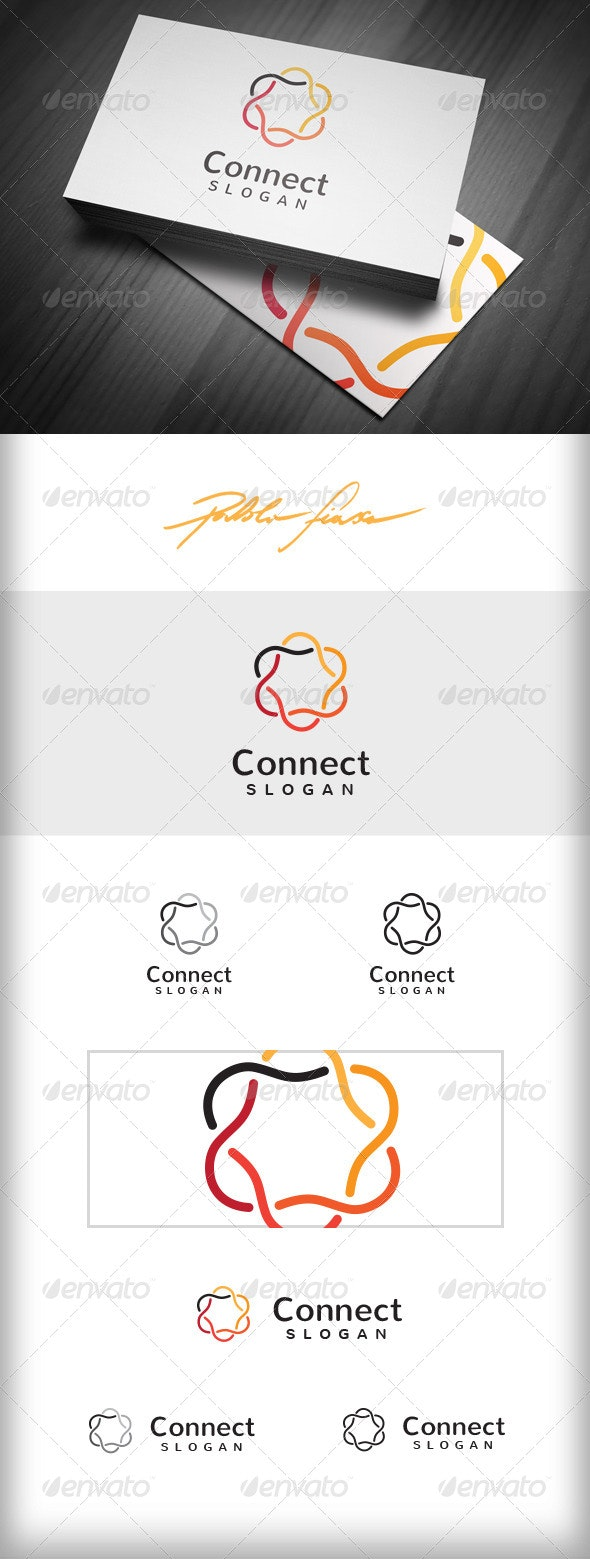 Connect Business Logo - Connected Circles Logo - Symbols Logo Templates