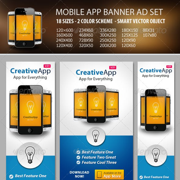 Mobile App Banner ad Set