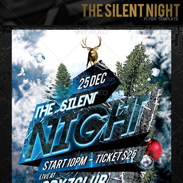 The Silent Night Flyer Template