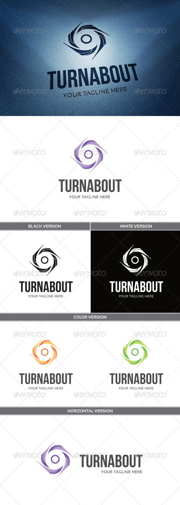 Turn About - Abstract Logo Templates