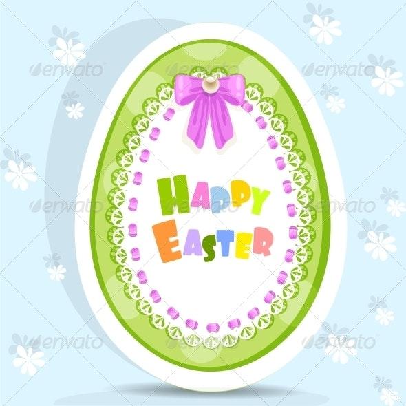 Easter Egg-Laced Postcard - Religion Conceptual