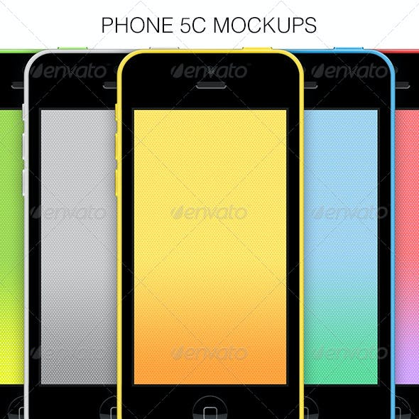 Phone 5c Mockups