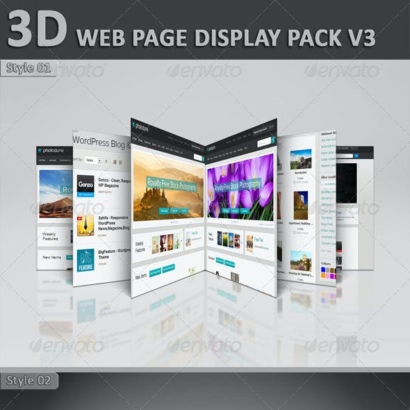 3D Web Page Display Pack V3