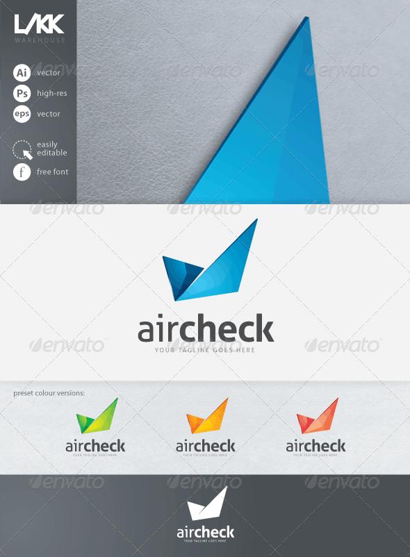 AirCheck logo - Abstract Logo Templates