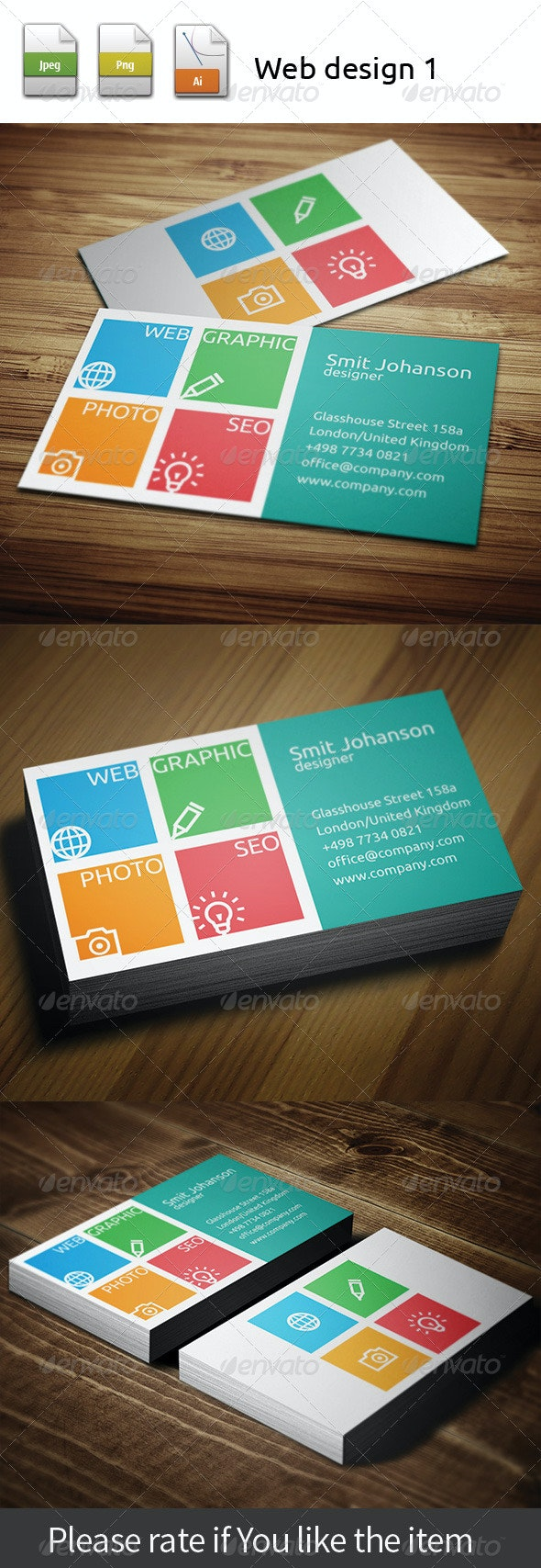 Web design 998 - Creative Business Cards