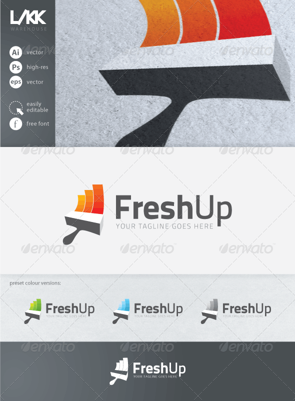 FreshUp logo - Objects Logo Templates