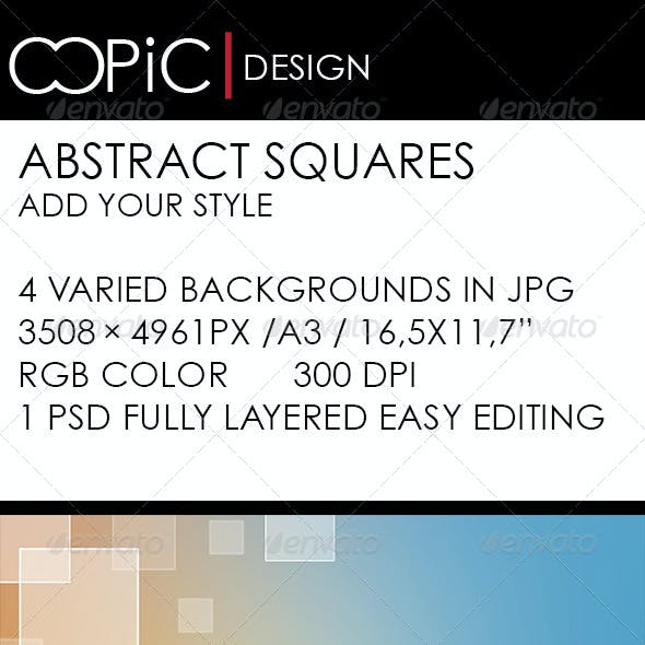 Abstract Squares with Soft Colors