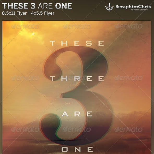 These Three are One: Church Flyer Template