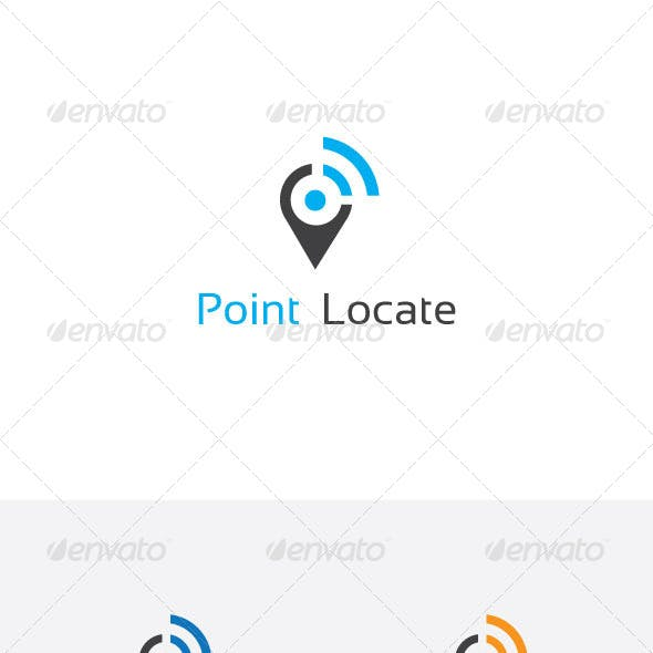 Point Locator Logo Design
