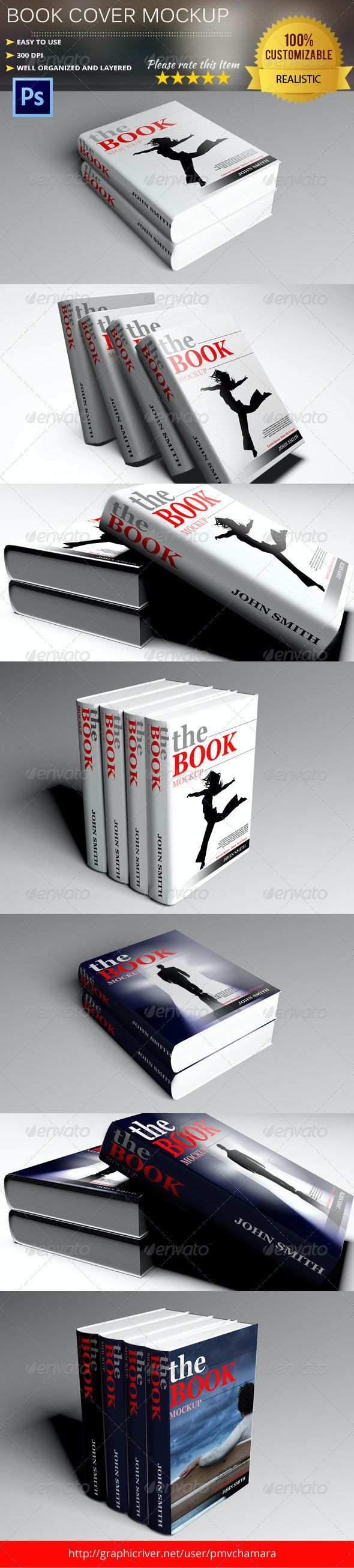 Photorealistic Book Cover Mock-Up - Books Print
