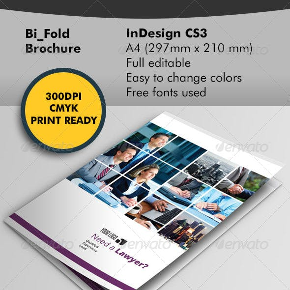 Lawyer Bifold Brochure