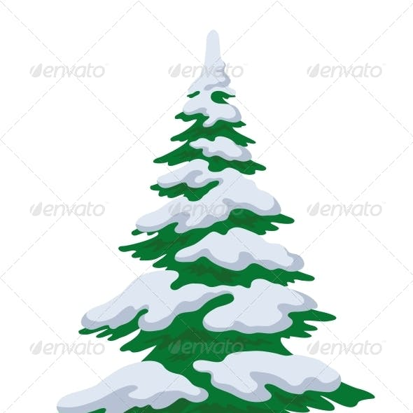 Christmas Tree with Snow