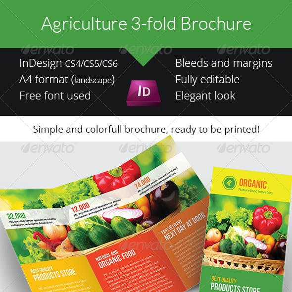 Agriculture / Agronomy Trifold Brochure