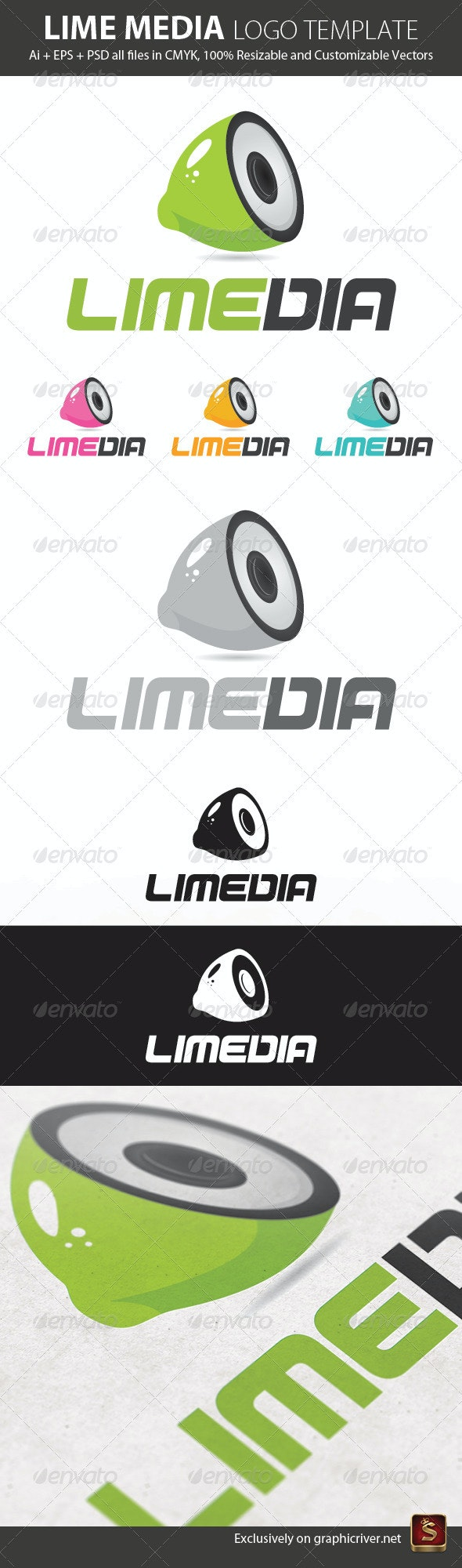 Lime Media Logo Template - Objects Logo Templates