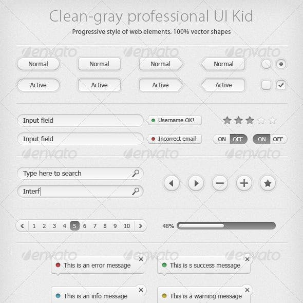 Clean Gray UI