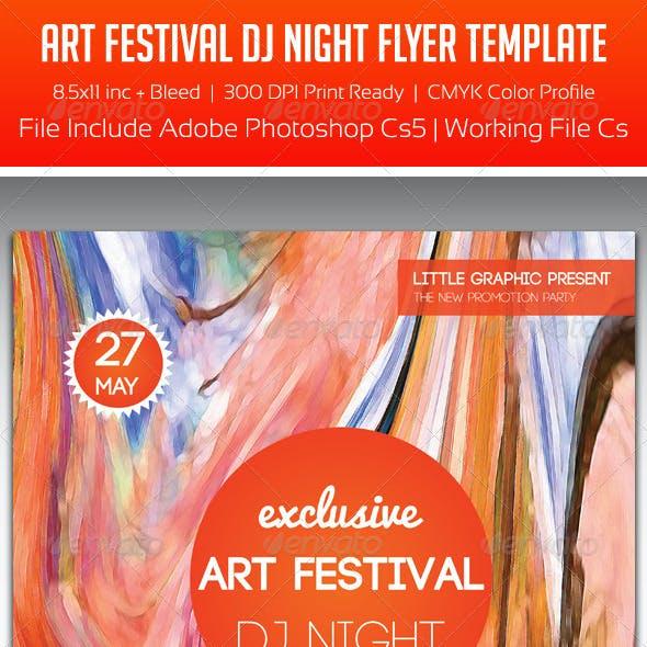 Art Festival Party Flyer Template
