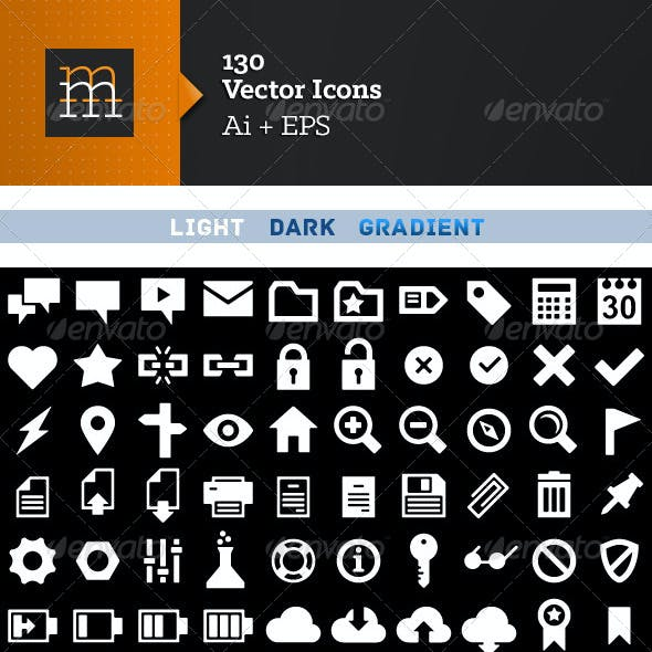 130 Vector Icons