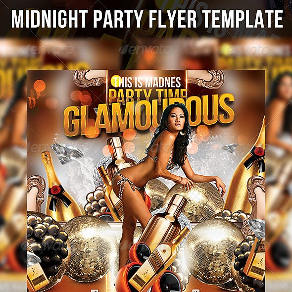 Hot&Moist Party Flyer Template
