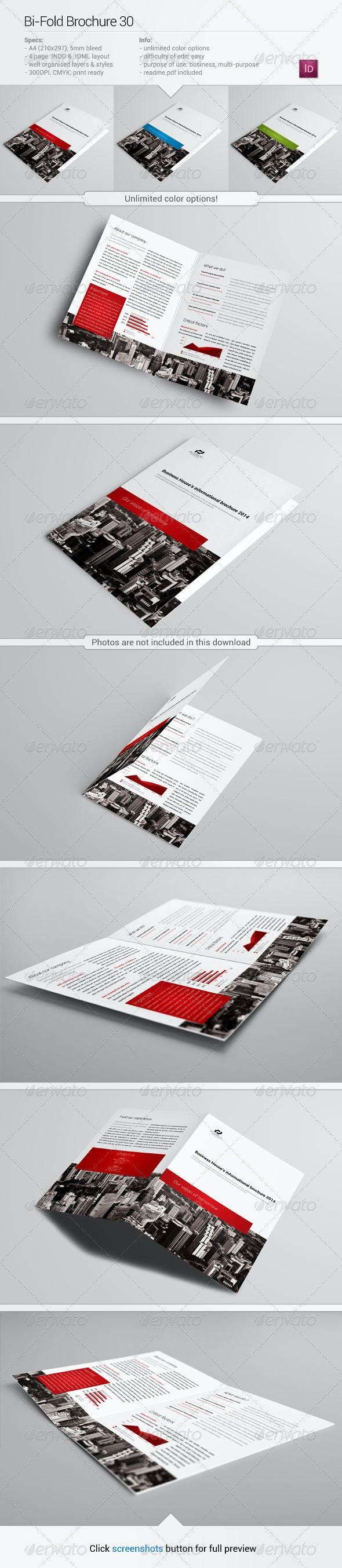 Bi-Fold Brochure 30 - Corporate Brochures