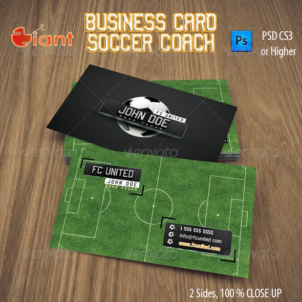 Business Card Soccer Coach