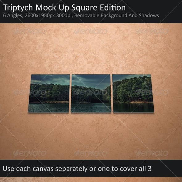 Triptych Mock-Up Square Edition