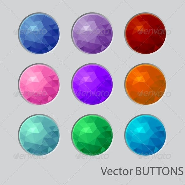 Polygonal Round Buttons