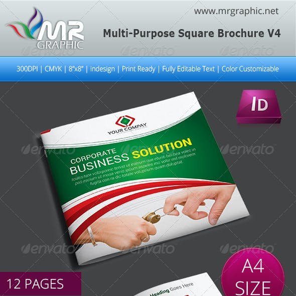 Multipurpose Square Brochure Template Vol-04