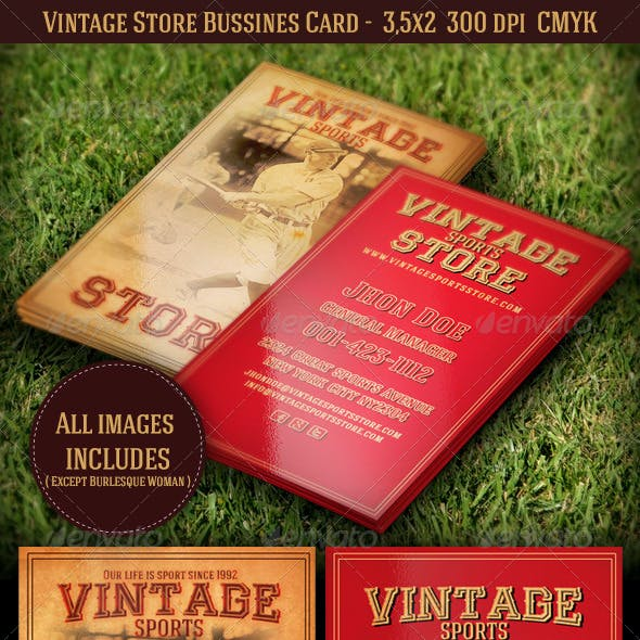 Vintage Store Bussines Card Template