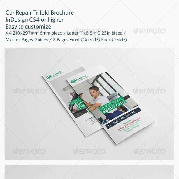 Car Repair Trifold Brochure