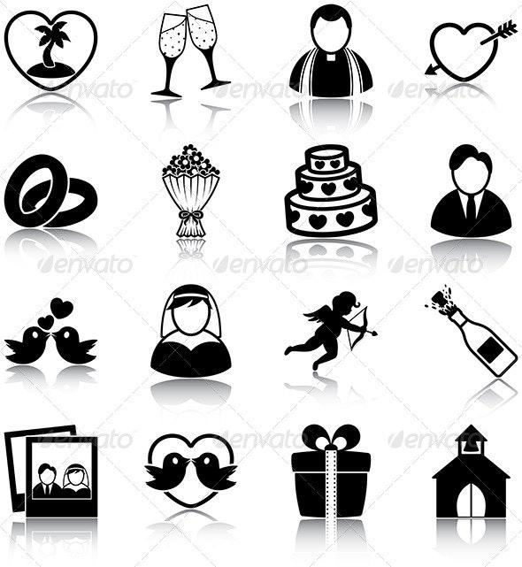 Wedding Icons - People Characters