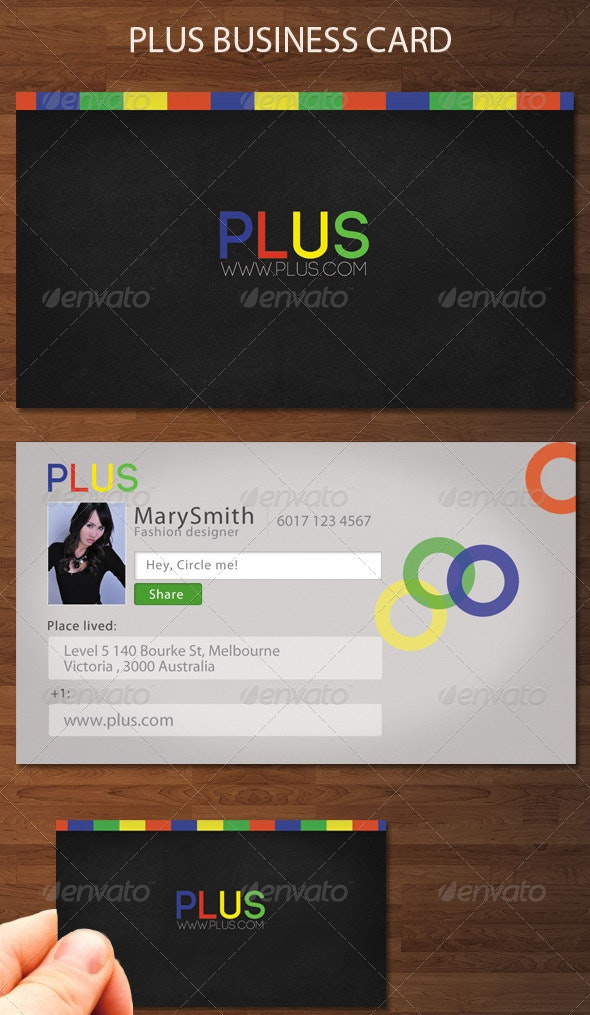 Plus Business Card - Creative Business Cards