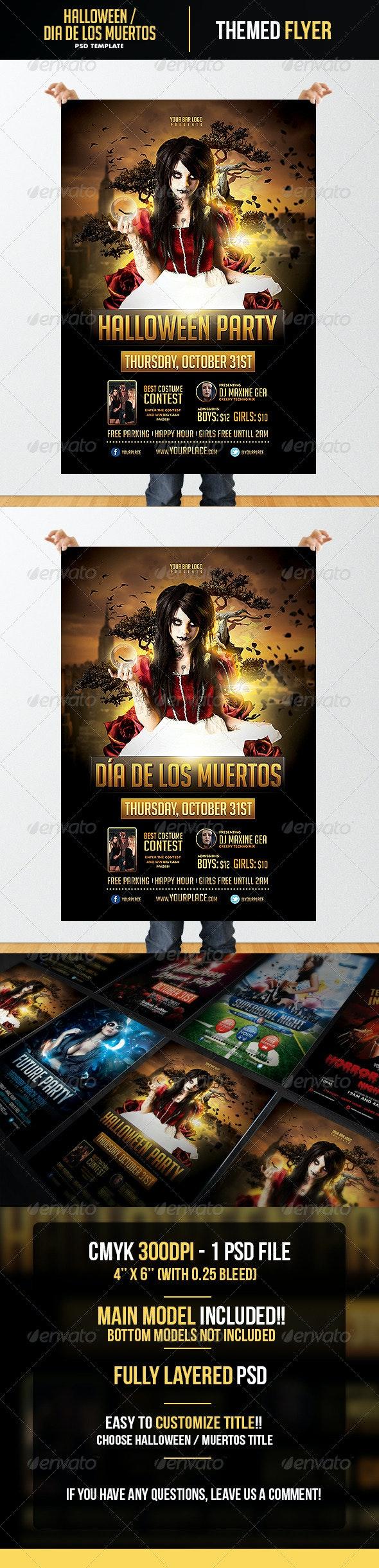 Halloween - Dia de los Muertos  Flyer Template - Flyers Print Templates