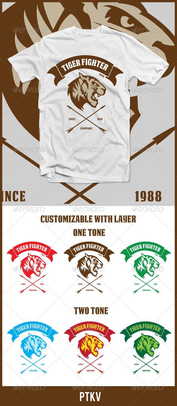 Tiger Fighter - Sports & Teams T-Shirts