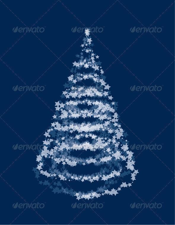 Vector Star Christmas Tree - Christmas Seasons/Holidays