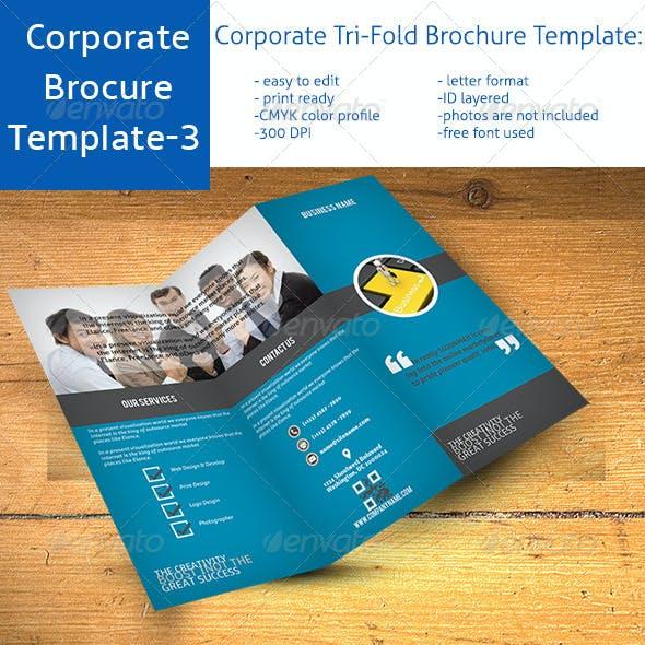 Corporate Tri-Fold Brochure Template Vo-3