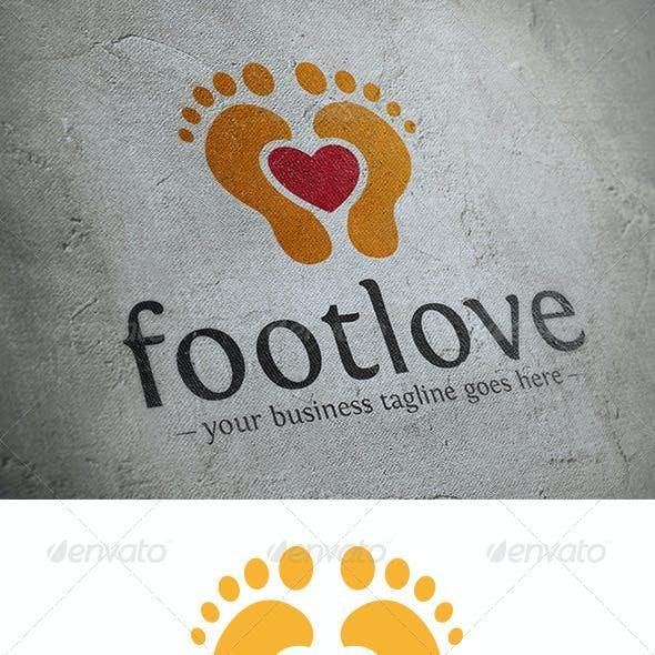 Foot Love Logo Template