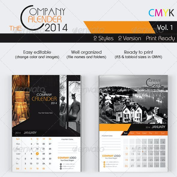 The Company Calenders 2014