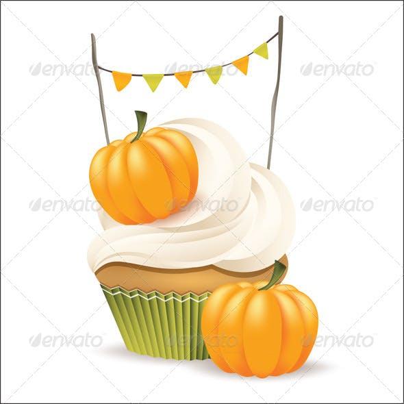 Vector Halloween Cupcake