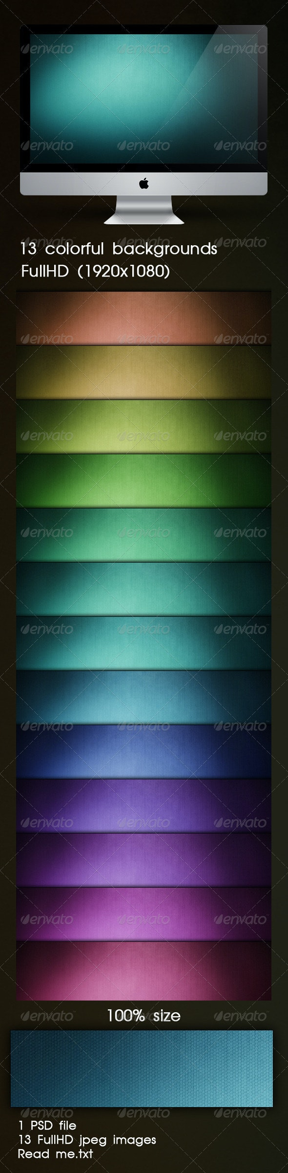 13 Colorful Backgrounds FulHD - Backgrounds Graphics
