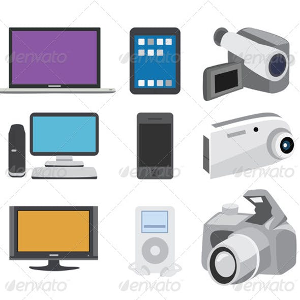 Electronics Icon Set