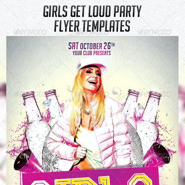 Girls Get Loud Party Flyer