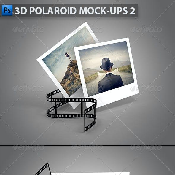 3D Polaroid Mock-Ups 2