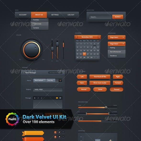 Dark Velvet UI Kit